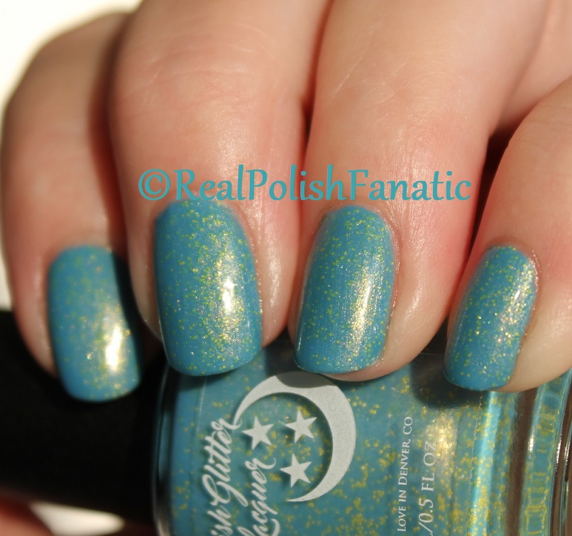 Geekish Glitter Lacquer - Keep Warm With Vault-tec! -- Bethesda Collab box with Bees Knees Lacquer (19)