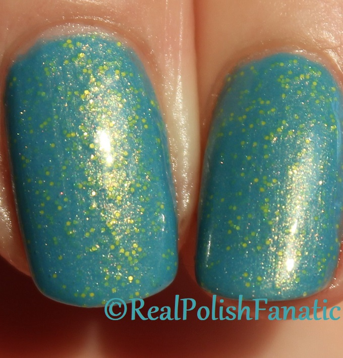 Geekish Glitter Lacquer - Keep Warm With Vault-tec! -- Bethesda Collab box with Bees Knees Lacquer (23)