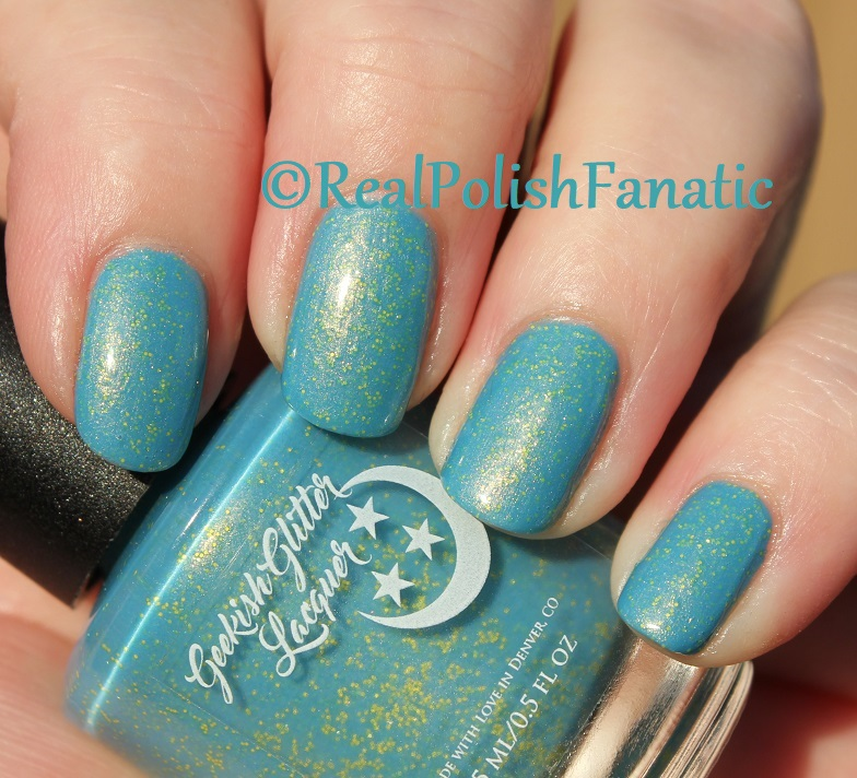 Geekish Glitter Lacquer - Keep Warm With Vault-tec! -- Bethesda Collab box with Bees Knees Lacquer (25)