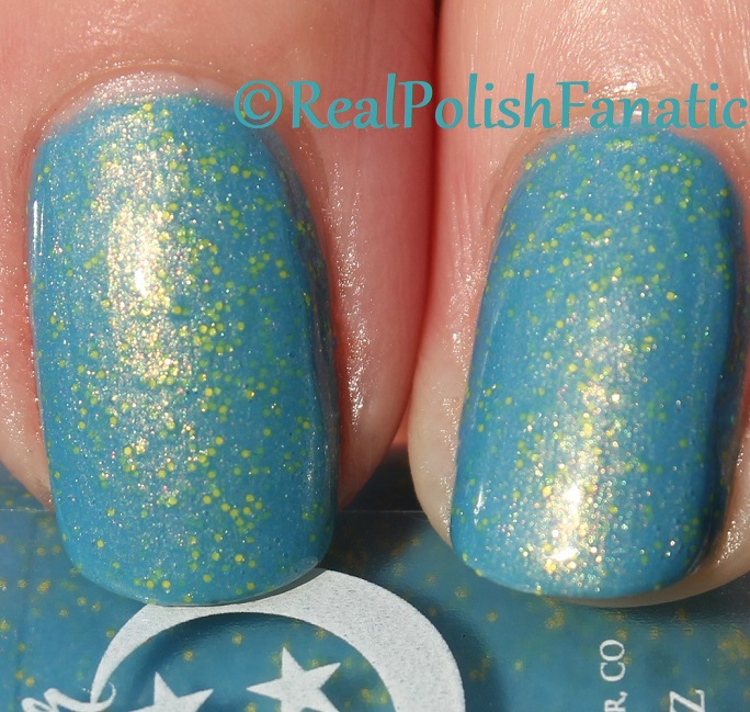 Geekish Glitter Lacquer - Keep Warm With Vault-tec! -- Bethesda Collab box with Bees Knees Lacquer (29)