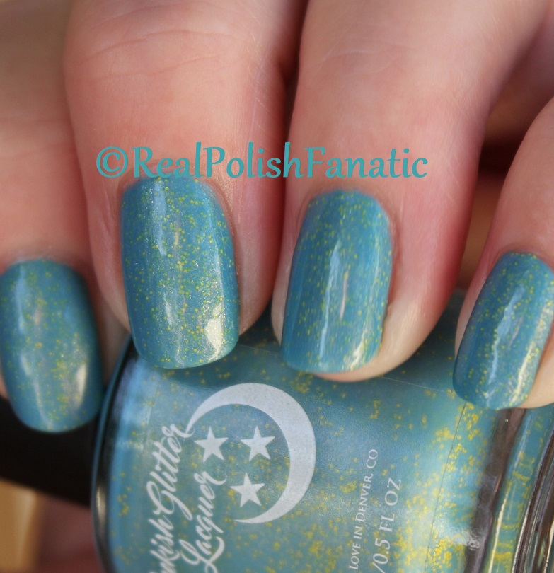 Geekish Glitter Lacquer - Keep Warm With Vault-tec! -- Bethesda Collab box with Bees Knees Lacquer (35)