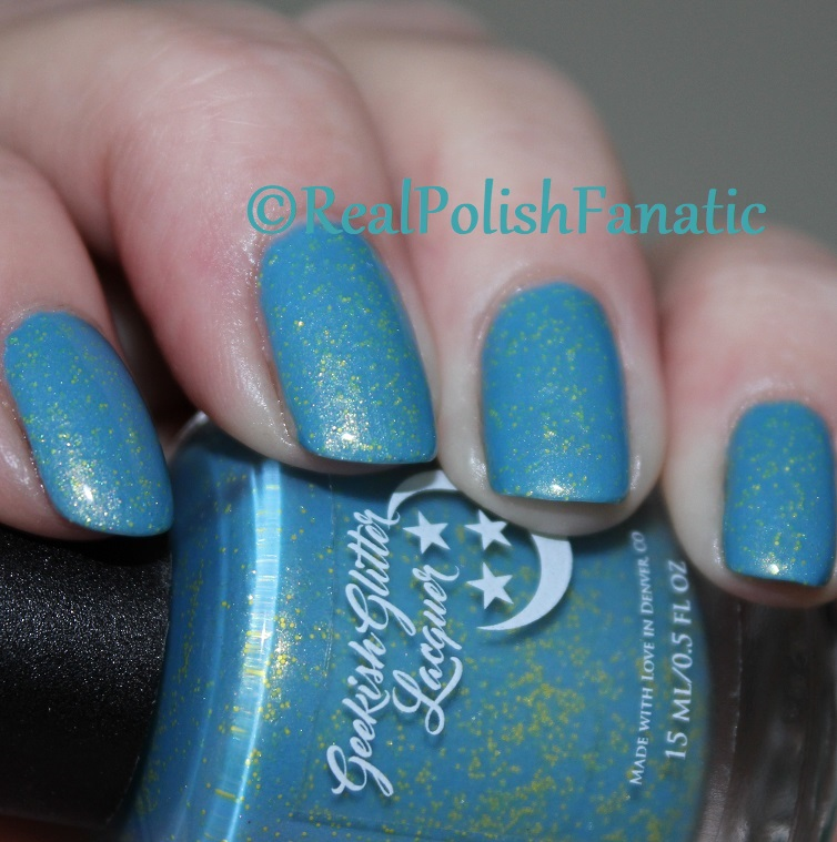 Geekish Glitter Lacquer - Keep Warm With Vault-tec! -- Bethesda Collab box with Bees Knees Lacquer (5)