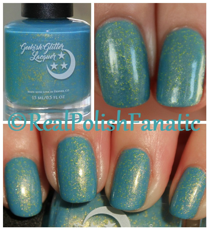 Geekish Glitter Lacquer - Keep Warm With Vault-tec! -- Bethesda Collab box with Bees Knees Lacquer