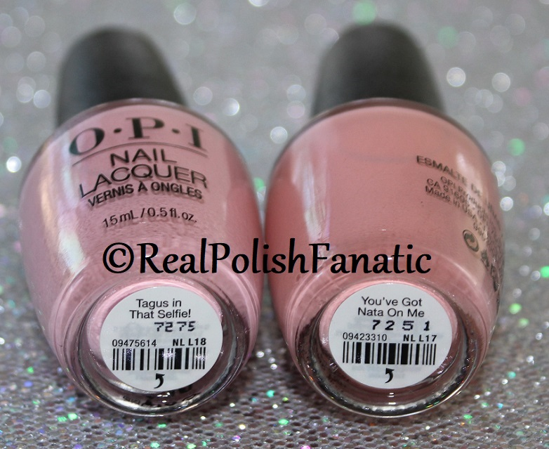 OPI Tagus In That Selfie! vs OPI You've Got Nata On Me -- OPI Spring 2018 Lisbon -- Comparison (2)
