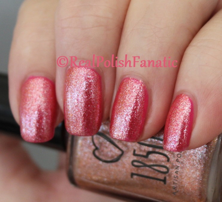1850 Artisan Polish - Santa Monica Pier over Shleee Polish - Kiss Cam (18)