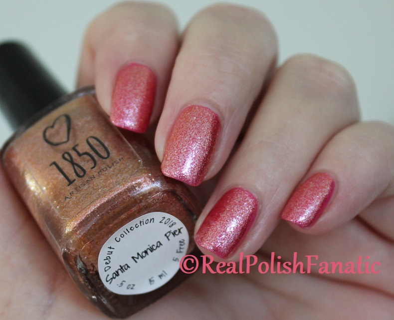 1850 Artisan Polish - Santa Monica Pier over Shleee Polish - Kiss Cam (9)