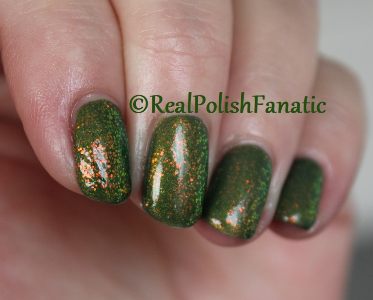Bees Knees Lacquer Malacath and Kleancolor Chunky Holo Clover (13)