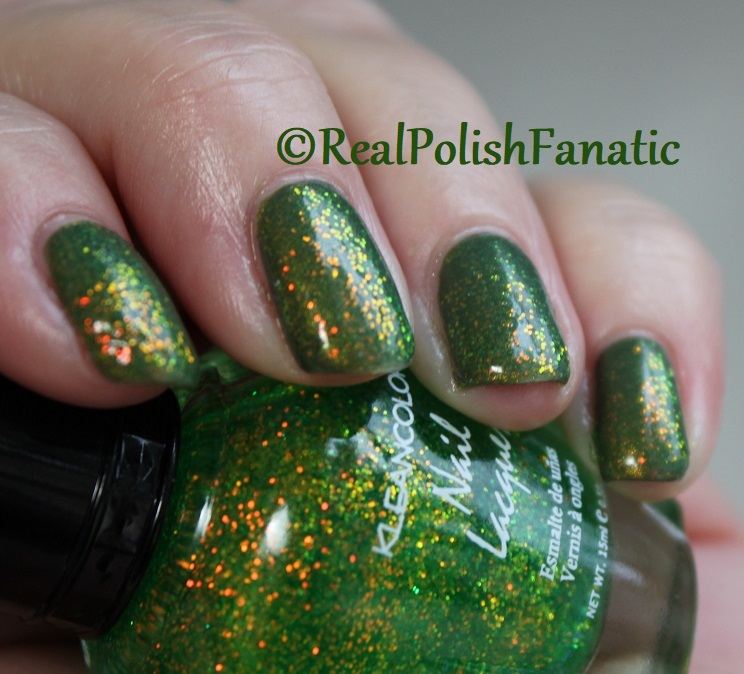 Bees Knees Lacquer Malacath and Kleancolor Chunky Holo Clover (19)