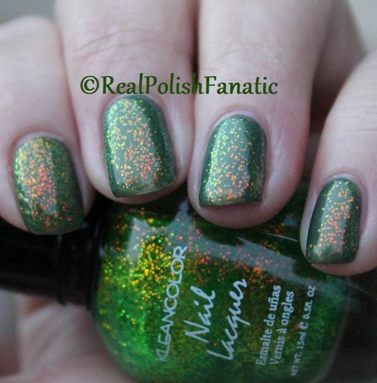 Bees Knees Lacquer Malacath and Kleancolor Chunky Holo Clover (23)