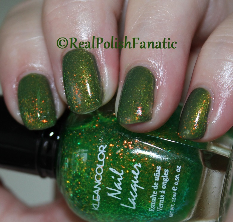 Bees Knees Lacquer Malacath and Kleancolor Chunky Holo Clover (3)