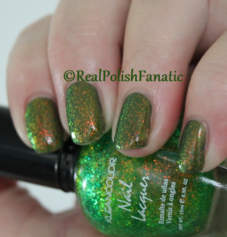 Bees Knees Lacquer Malacath and Kleancolor Chunky Holo Clover (9)
