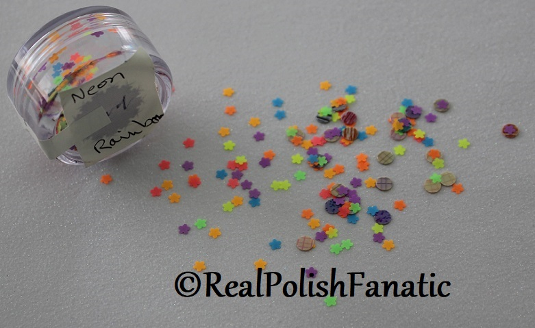 Frozen Water Designs - Neon Rainbow -- loose glitter mix (5)