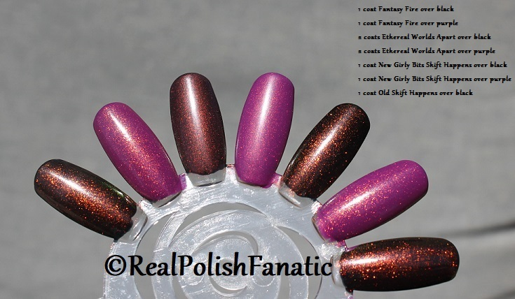 Comparison of 'Unicorn Pee' Polishes -- Shift Happens, Fantasy Fire, Worlds Apart (10)