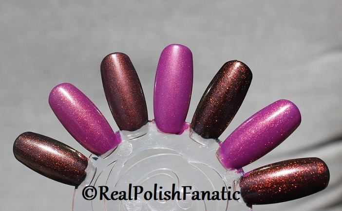 Comparison of 'Unicorn Pee' Polishes -- Shift Happens, Fantasy Fire, Worlds Apart (11)