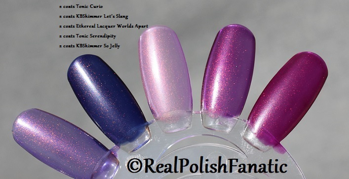 Comparison of 'Unicorn Pee' Polishes -- Shift Happens, Fantasy Fire, Worlds Apart (12)