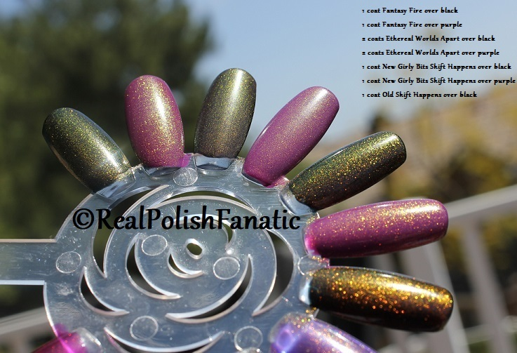 Comparison of 'Unicorn Pee' Polishes -- Shift Happens, Fantasy Fire, Worlds Apart (16)