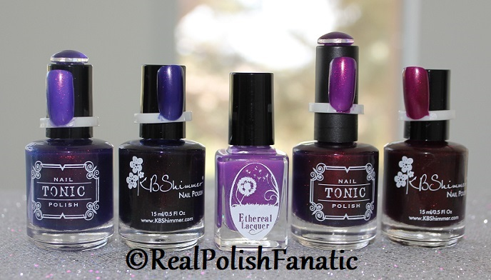 Comparison of 'Unicorn Pee' Polishes -- Shift Happens, Fantasy Fire, Worlds Apart (2)
