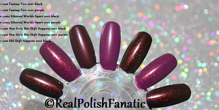Comparison of 'Unicorn Pee' Polishes -- Shift Happens, Fantasy Fire, Worlds Apart (4)