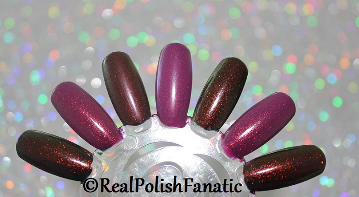 Comparison of 'Unicorn Pee' Polishes -- Shift Happens, Fantasy Fire, Worlds Apart (5)