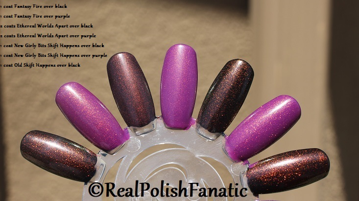 Comparison of 'Unicorn Pee' Polishes -- Shift Happens, Fantasy Fire, Worlds Apart (7)
