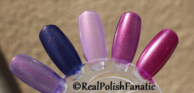 Comparison of 'Unicorn Pee' Polishes -- Shift Happens, Fantasy Fire, Worlds Apart (8)