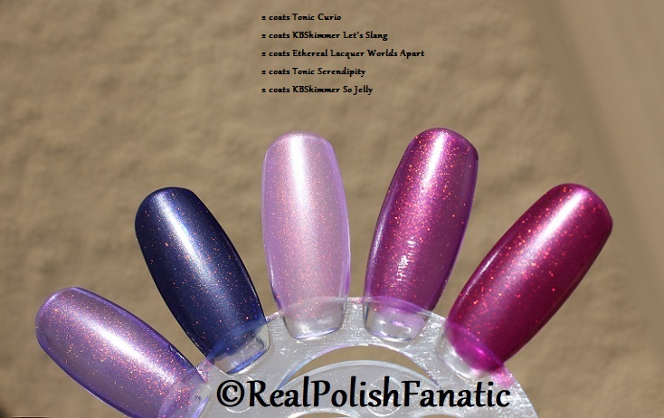 Comparison of 'Unicorn Pee' Polishes -- Shift Happens, Fantasy Fire, Worlds Apart (9)