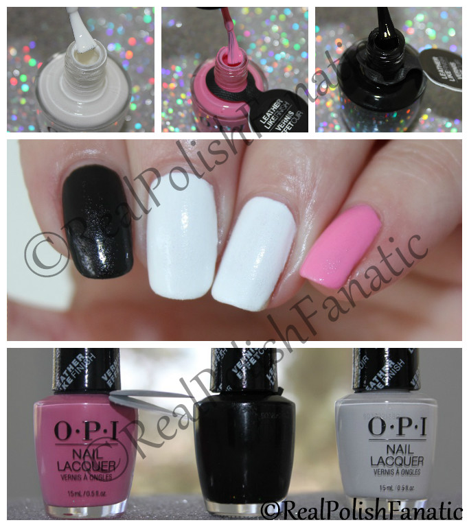 OPI Grease Collection - Leather Like Trio -- Electryfyin' Pink , Grease Is the Word (Black), Rydell Forever (White) -- Summer 2018
