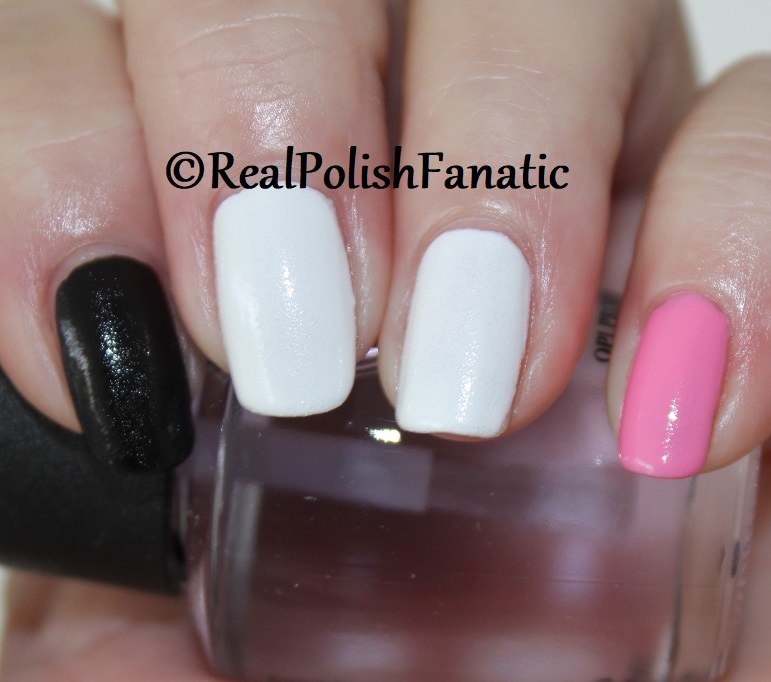 OPI Grease Collection - Leather Like Trio -- Electryfyin' Pink , Rydell Forever (White) , Grease Is the Word (Black) -- Summer 2018 (1 coat) (1)