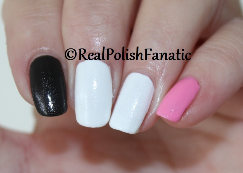 OPI Grease Collection - Leather Like Trio -- Electryfyin' Pink , Rydell Forever (White) , Grease Is the Word (Black) -- Summer 2018 (1 coat) (2)