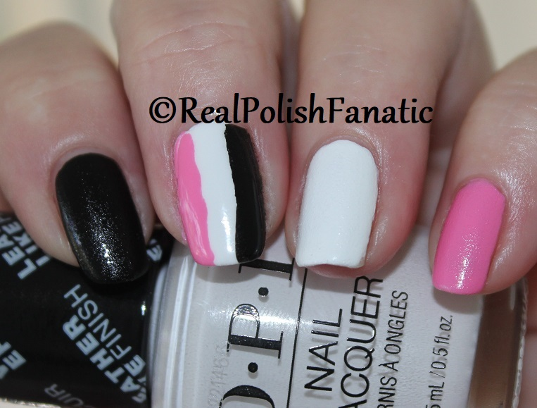 OPI Grease Collection - Leather Like Trio -- Electryfyin' Pink , Rydell Forever (White) , Grease Is the Word (Black) -- Summer 2018 (11)