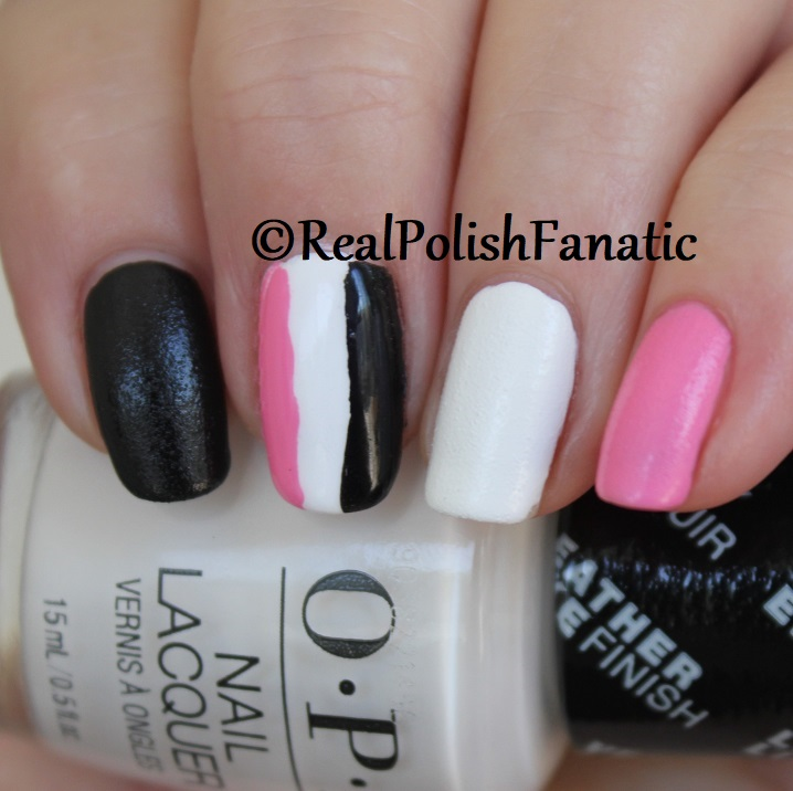 OPI Grease Collection - Leather Like Trio -- Electryfyin' Pink , Rydell Forever (White) , Grease Is the Word (Black) -- Summer 2018 (16)