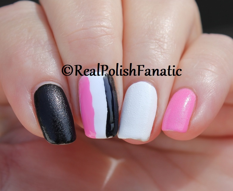 OPI Grease Collection - Leather Like Trio -- Electryfyin' Pink , Rydell Forever (White) , Grease Is the Word (Black) -- Summer 2018 (23)