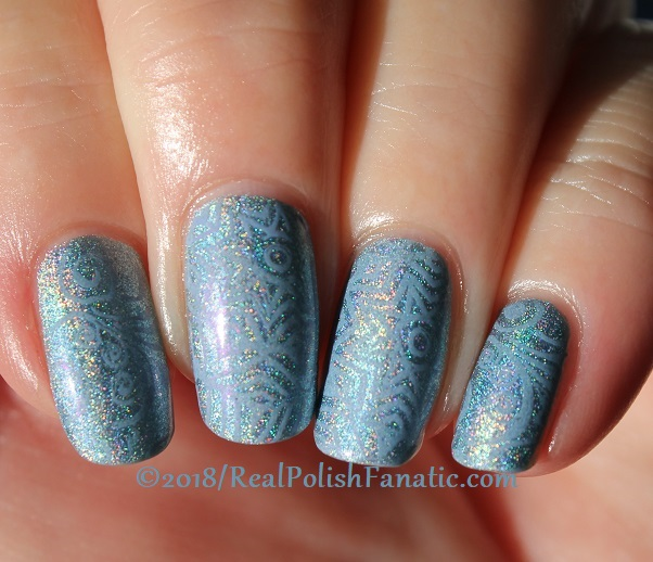 China Glaze Ma-holo At Me stamped with China Glaze Glamletics using Pueen Fairytale Lover Collection Plate #1 (4)