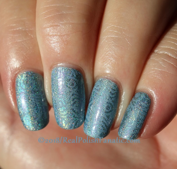 China Glaze Ma-holo At Me stamped with China Glaze Glamletics using Pueen Fairytale Lover Collection Plate #1 (5)