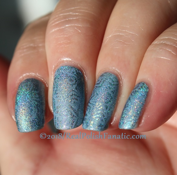 China Glaze Ma-holo At Me stamped with China Glaze Glamletics using Pueen Fairytale Lover Collection Plate #1 (6)