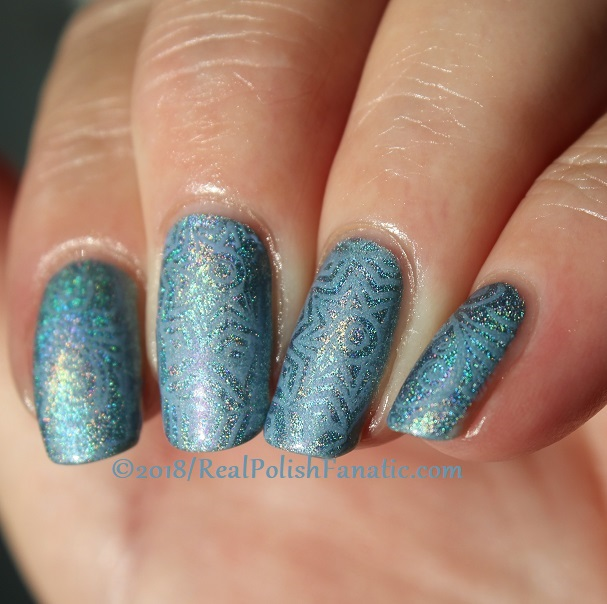China Glaze Ma-holo At Me stamped with China Glaze Glamletics using Pueen Fairytale Lover Collection Plate #1 (7)