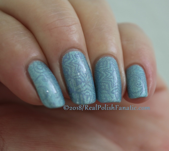 China Glaze Ma-holo At Me stamped with China Glaze Glamletics using Pueen Fairytale Lover Collection Plate #1 (8)