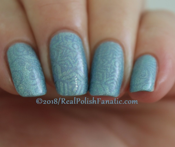 China Glaze Ma-holo At Me stamped with China Glaze Glamletics using Pueen Fairytale Lover Collection Plate #1 (9)