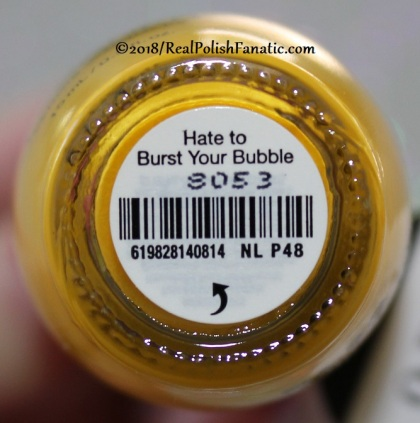 OPI - Hate To Burst Your Bubble NL P48 // Summer 2018 Pop Culture Collection