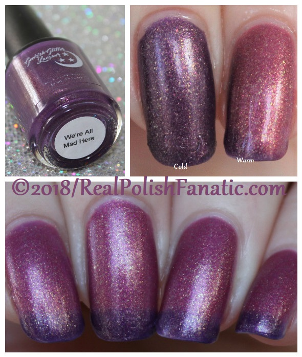 Geekish Glitter Lacquer - We're All Mad Here -- Facebook Group Custom #1