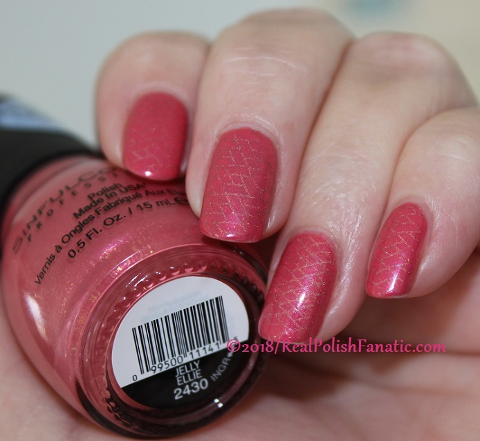 Sinful Colors Jelly Ellie stamped with China Glaze TTYL 2018 with Moyou London Suki Plate #15 (19)