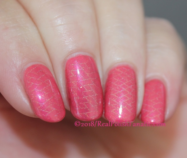 Sinful Colors Jelly Ellie stamped with China Glaze TTYL 2018 with Moyou London Suki Plate #15 (26)