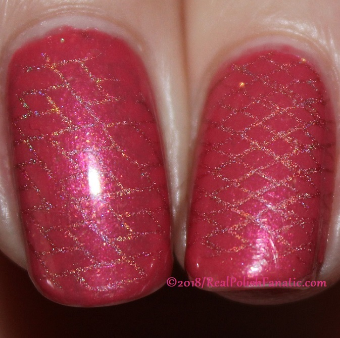 Sinful Colors Jelly Ellie stamped with China Glaze TTYL 2018 with Moyou London Suki Plate #15 (27)