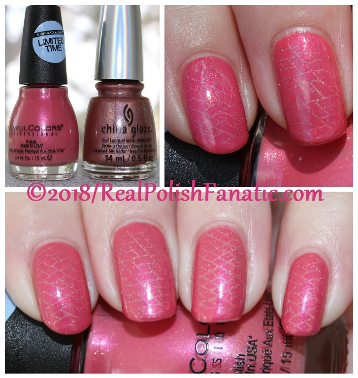 Sinful Colors Jelly Ellie stamped with China Glaze TTYL 2018 with Moyou London Suki Plate #15 (28)
