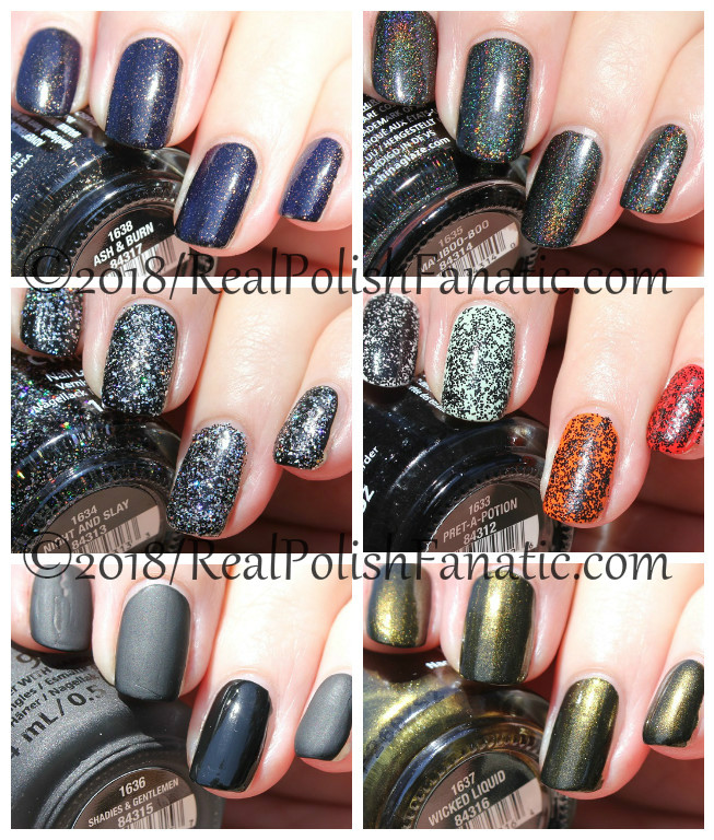 china glaze paint it black collection halloween 2018 11