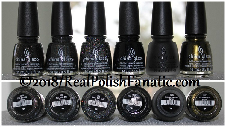 China Glaze Paint It Black Collection - Halloween 2018
