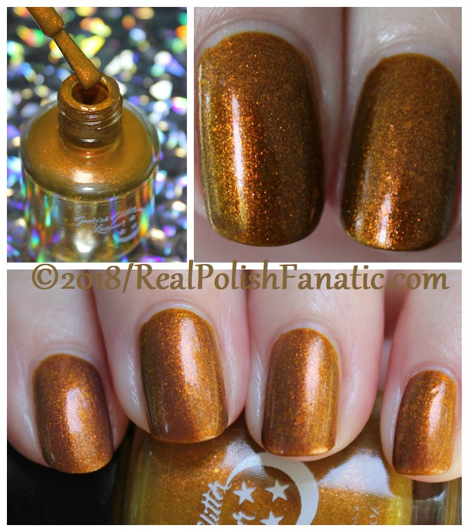 Geekish Glitter Lacquer - The Lion -- Zodiac Series Leo - July 2018