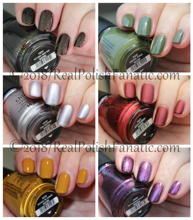 China Glaze -- Ready To Wear FW 18 Collection Part 1