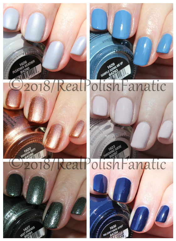 China Glaze Ready To Wear Fw 18 Collection Fall 2018 Swatch And