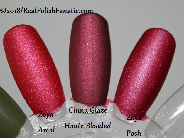 Comparison -- China Glaze - Haute Blooded -- Ready To Wear FW 18 Collection --- Comp with Zoya Amal & Zoya Posh (1)